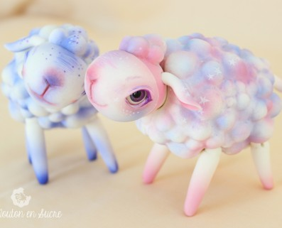 Sheep BJD animal makeup