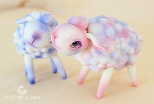 Sheep BJD animal makeup