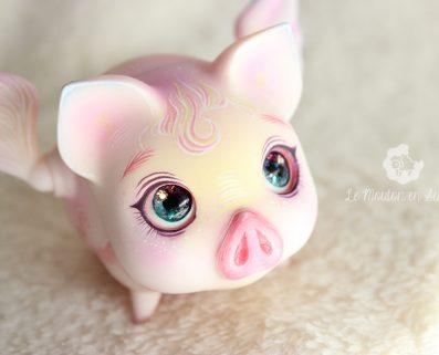 Voador pink vetch flying pig bjd pet