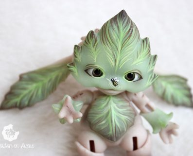 Mossling goblin tales bjd doll forest creature pet leaf custom makeup artis creation