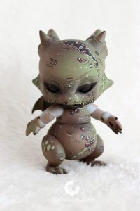 PlaPico aileendoll custom artist bjd doll pet dragon oogie boogie evilmasters