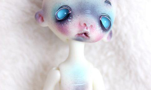 Sleepy doll chateau bjd tim burton makeup style creature