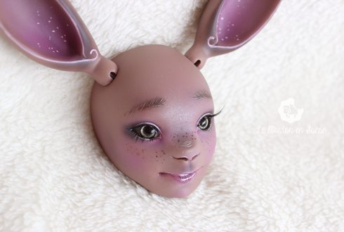 Pam faceup makeup misterminou doll makeup artist custom