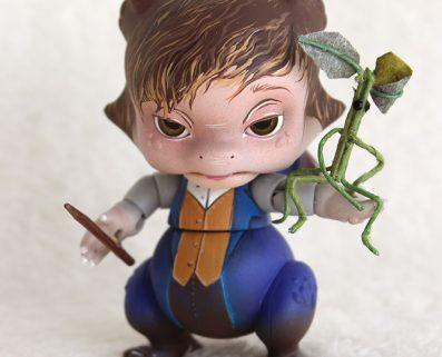 PlaPico aileendoll custom artist bjd doll pet dragon Newt dragonneau