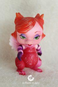PlaPico aileendoll custom artist bjd doll pet dragon jessica rabbit