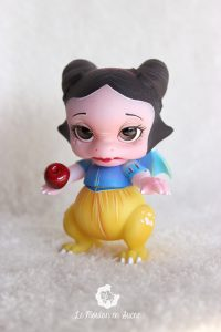 PlaPico aileendoll custom artist bjd doll pet dragon snow white blanche neige