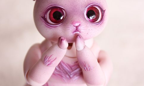 mini brioche nympheasdolls makeup artist creation bjd cat animal pet creature