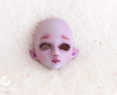 Violet girl face-up french artist bjd creation