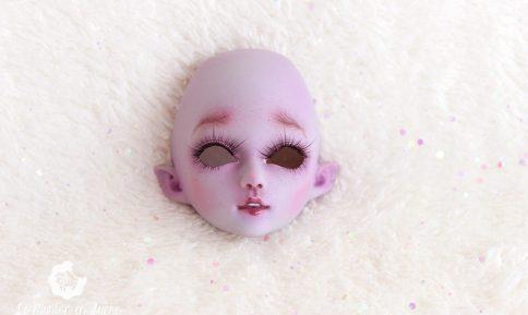 Violet girl face-up french artist bjd creation