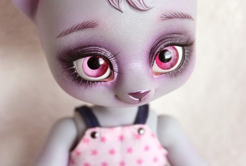 amande yosd bjd doll cat chat la compagnie des radis doll bjd animal pet girl