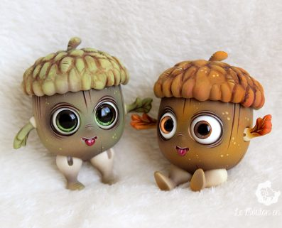 Glandouille bjd doll acorn tiny pet forest oak creation