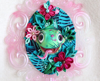 BJD head doll decoration wall kanzashi beautyful