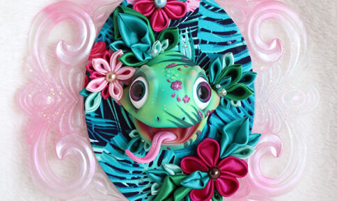 BJD head doll decoration wall kanzashi beautyful