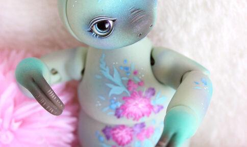 Mani Sloth bjd basati dolls paresseux flower