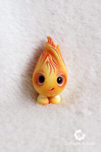 cotton feufollet fire will-o-the-whisp doll bjd forest creature fantasy artist