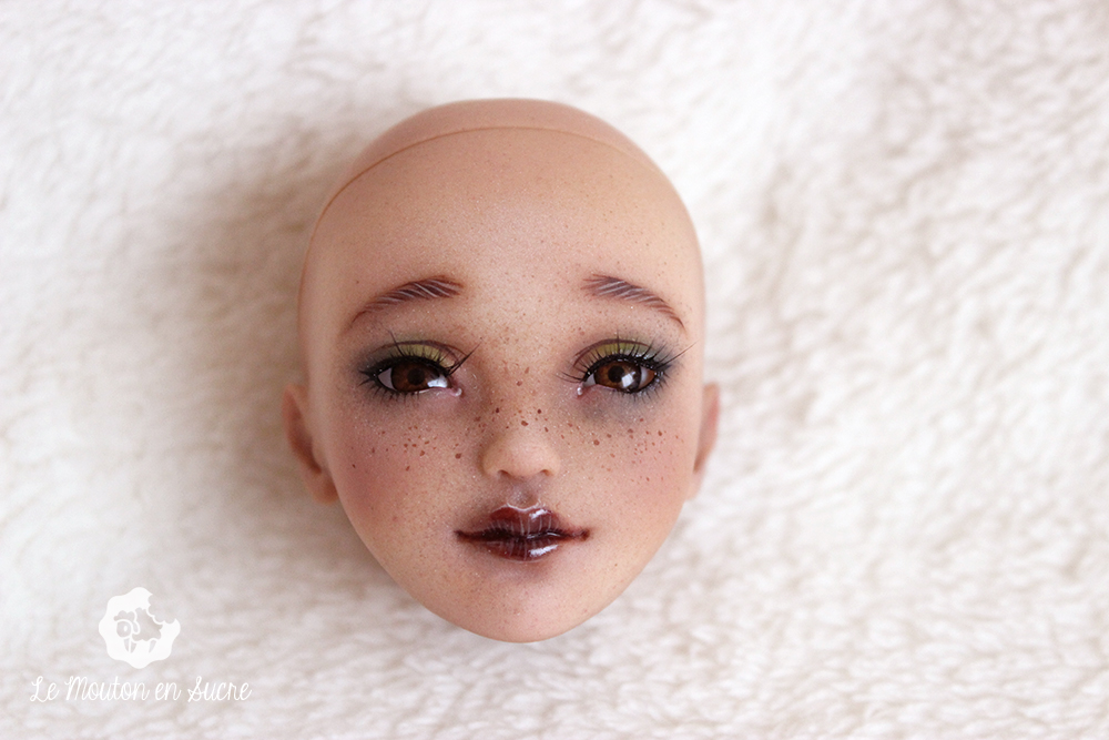 Youpladolls ziya freckles tan human creation faceup artist makeup Francais french