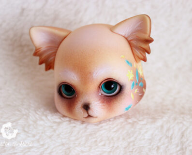zuzu delf pet luts animal creature doll bjd painting artist custom makeup faceup fur