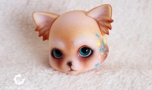 zuzu delf pet luts animal creature doll bjd painting artist custom makeup faceup fur