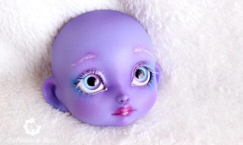 Poulpy purple skin lillycat cerisedolls bjd dolls pretty girl faceup artist cartoon fantasy