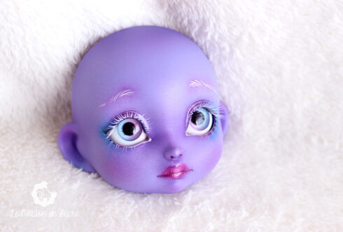 Poulpy purple skin lillycat cerisedolls bjd dolls pretty girl faceup artist cartoon fantasy