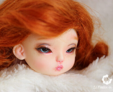 July H Minor doll sweet faceup natural bjd doll tiny pink ginger
