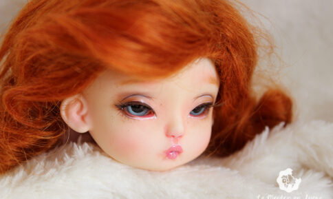 July H Minor doll sweet faceup natural bjd doll tiny pink ginger