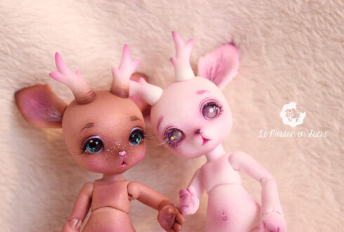 Rudy petit gem soom creature pet doll bjd animal tiny girl makeup artist custom paint