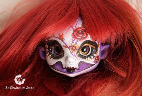 Twilight soul dolls bjd telma mini tiny human witch calavera sugarskull makeup artist custom creation