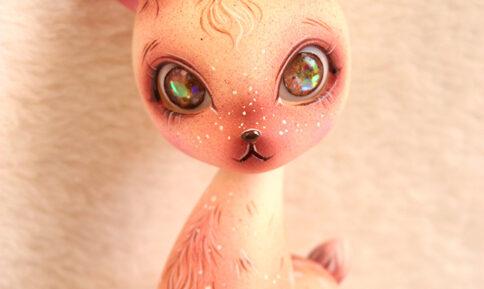 Luca dollfamily deer baby faon animal pet creature doll bjd forest bambi makeup