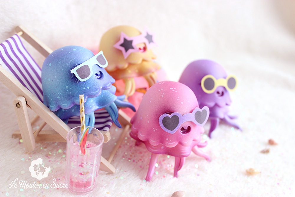 Jelly bjd doll jellyfish pet creature animal doll at the beach