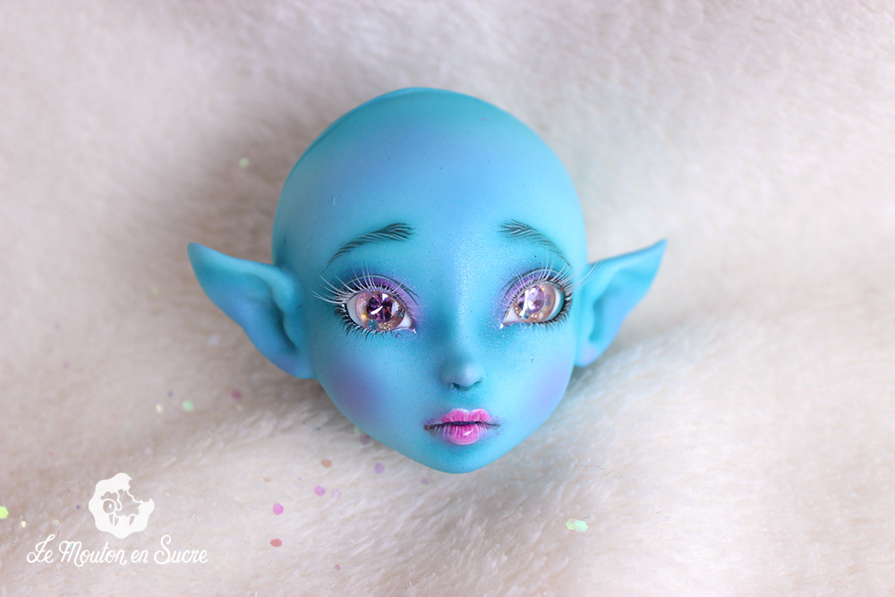 Mystic dolls velkhana turquoise skin blue human custom makeup artist