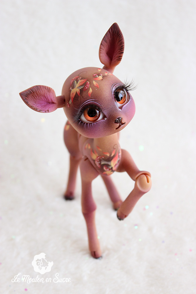 Fantine doll bjd nympheasdoll deer creature pet animal forest cute artist custom ooak butter mushroom autumn