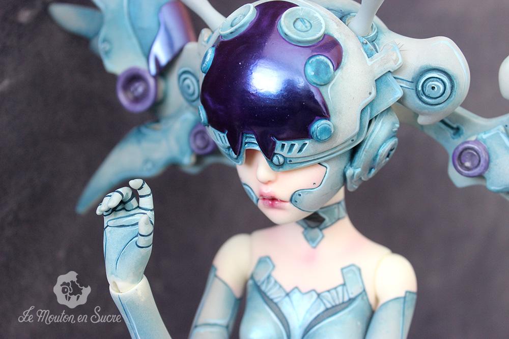 Ji-zero makeup doll bjd faceup artist dollzone cyborg robot steal style