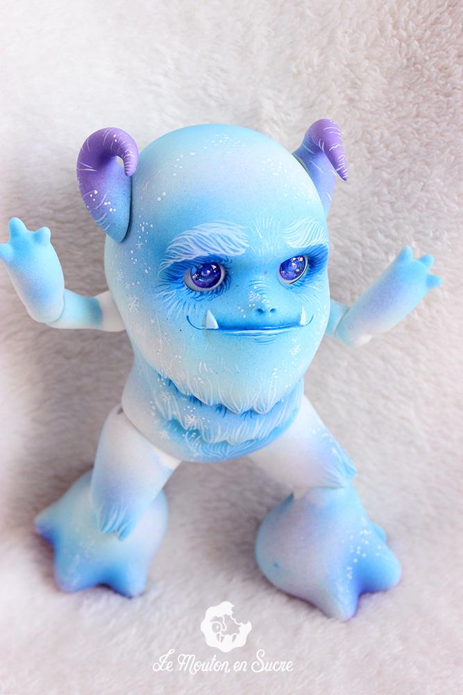the yeti aimerail doll bjd animal pet creature custom makeup artist french france iced blue
